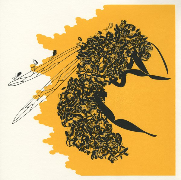 Bee screenprint