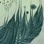 Feather grass illustration
