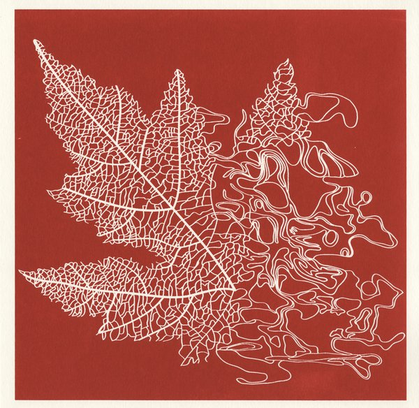 Leaf screenprint