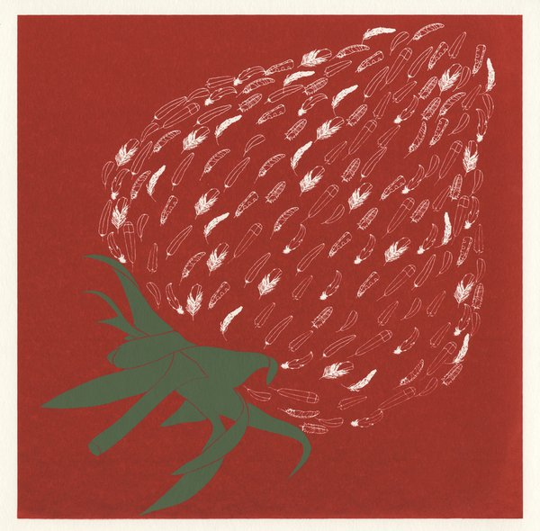 Strawberry screenprint