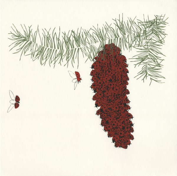 Pine cone screenprint