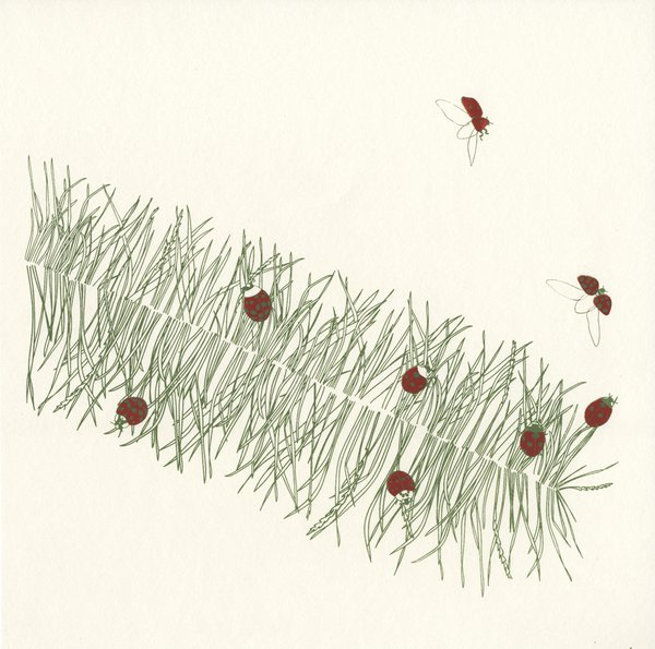 Grass Feather screenprint